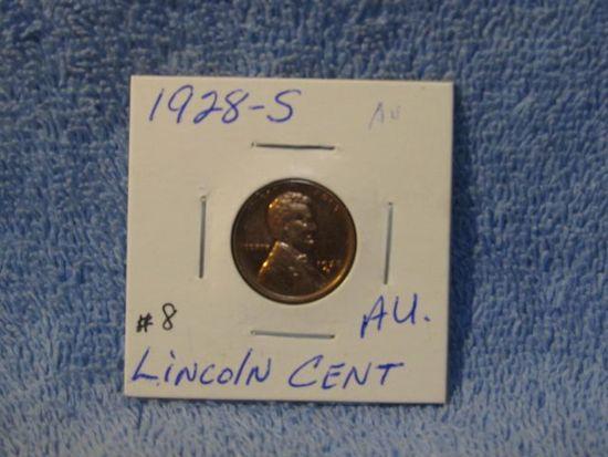 1928S LINCOLN CENT AU
