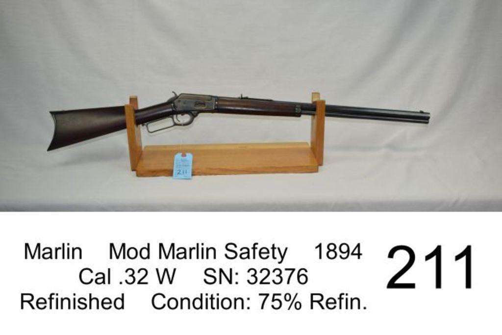 Lot: Marlin Mod Marlin Safety 1894 Cal  32 W SN: 32376 Refinished