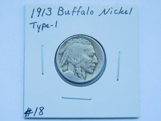 1913 TYPE-1 BUFFALO NICKEL G