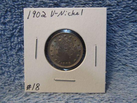 1902 V-NICKEL (REV. RIM DING) BU