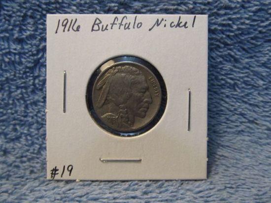 1916D BUFFALO NICKEL (SCARCE) XF