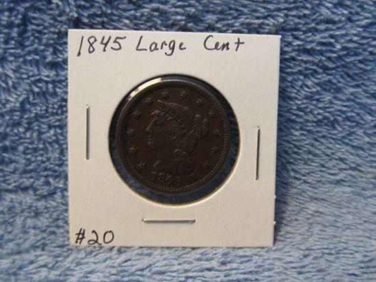 1845 LARGE CENT AU