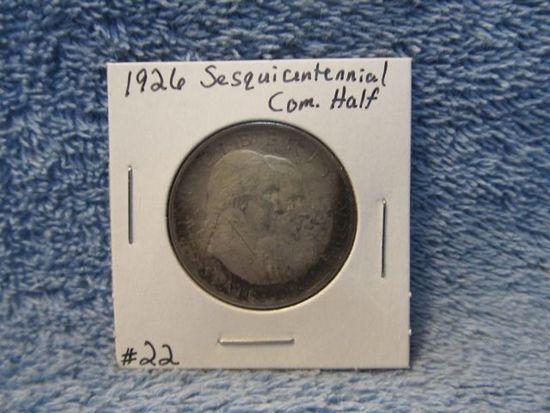 1926 SESQUICENTENNIAL COM. HALF XF