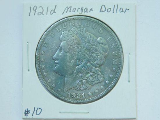 1921D MORGAN DOLLAR XF