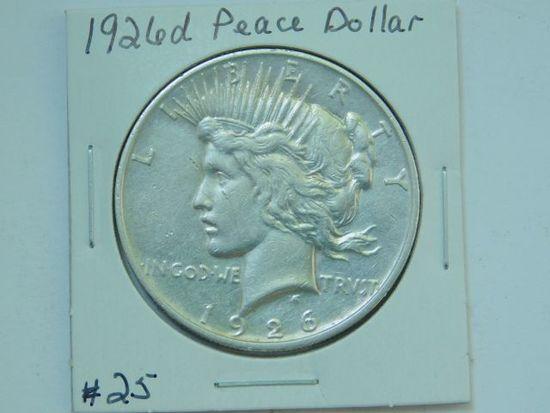 1926D PEACE DOLLAR XF