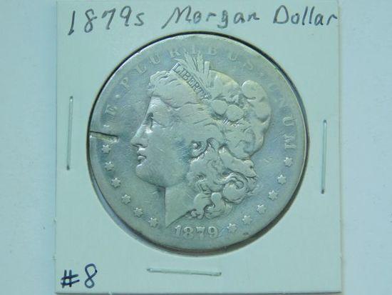 1879S MORGAN DOLLAR (RIM CUT) VG