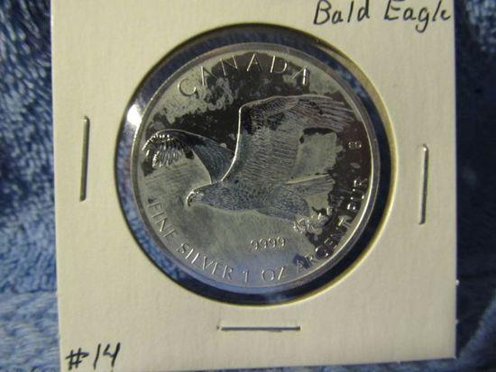 2014 CANADIAN SILVER BALD EAGLE BU