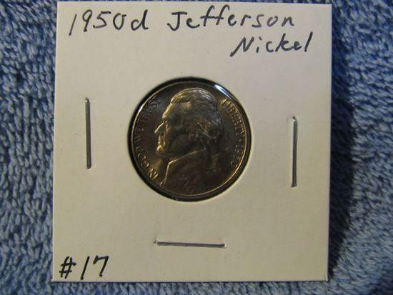 1950D JEFFERSON NICKEL (KEY DATE) BU