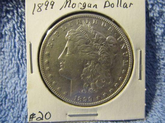1899 MORGAN DOLLAR AU