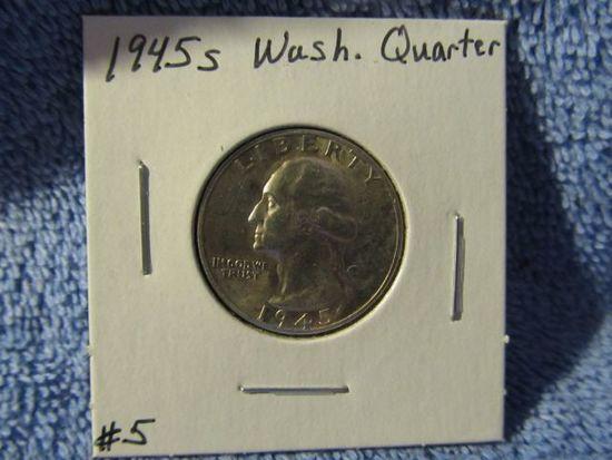 1945S WASHINGTON QUARTER BU