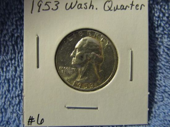 1953 WASHINGTON QUARTER BU