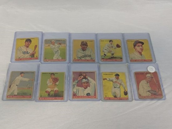 1933 Goudey R319 Lot of 10: Condition P/F