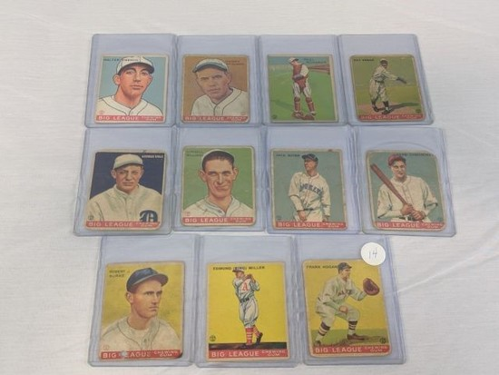 1933 Goudey R319 Lot of 11: Condition P/F