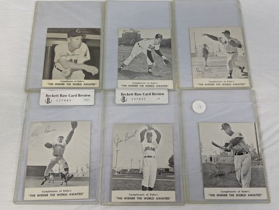1959 Kahn's Wieners lot of 6 Cleveland Indians