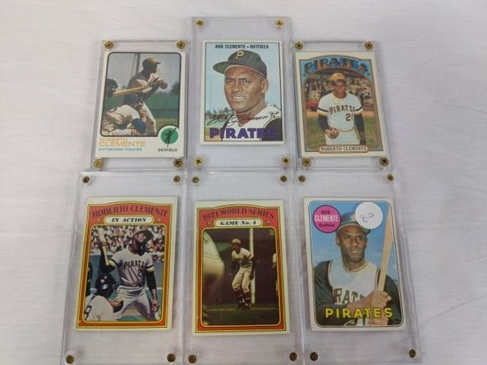 Clemente group 6 card lot: '67, '69, '72, '73 Topps cards