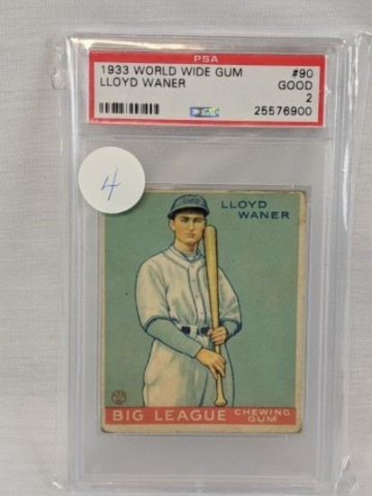 1933 World Wide Gum: #90 Lloyd Waner PSA, good