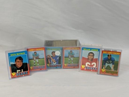 1971 Topps Football lot w/stars - 150+ cards