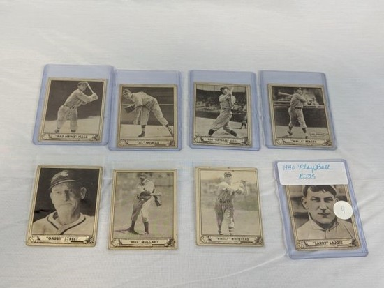 1940 Play Ball R335 lot of 7 w/Lajoie