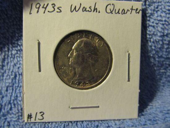 1943S WASHINGTON QUARTER BU