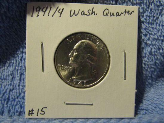 1941/4 WASHINGTON QUARTER BU