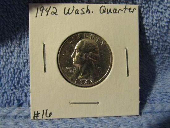 1942 WASHINGTON QUARTER BU