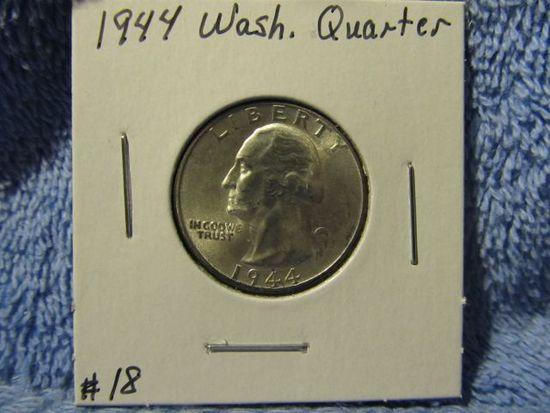 1944 WASHINGTON QUARTER BU