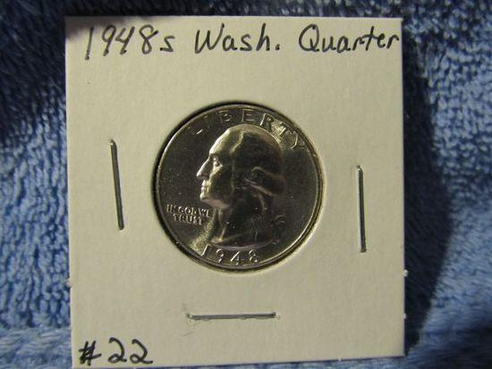 1948S WASHINGTON QUARTER BU