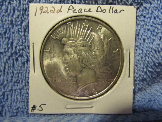 1922D PEACE DOLLAR (A BETTER DATE)
