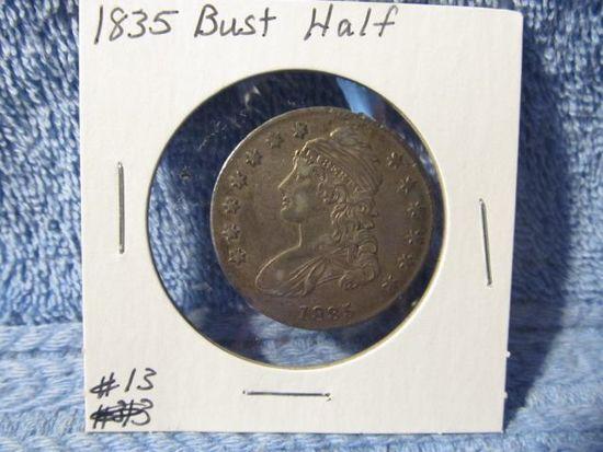 1835 BUST HALF (NICE) XF