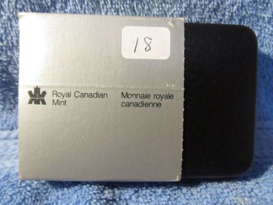 1981 CANADIAN TRAIN SILVER DOLLAR IN HOLDER PF