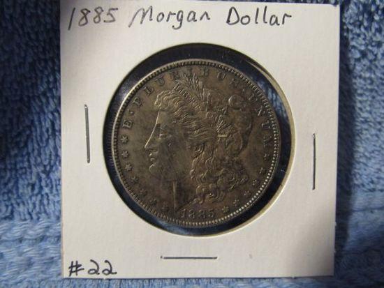 1885 MORGAN DOLLAR (NICE ORIGINAL TONING) BU