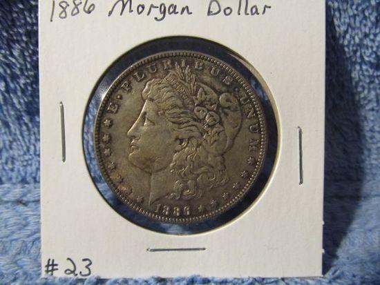 1886 MORGAN DOLLAR (NICE ORIGINAL TONING) BU