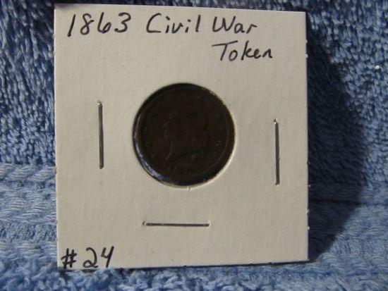 1863 CIVIL WAR TOKEN ARMY/NAVY