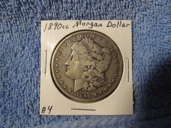 1890CC MORGAN DOLLAR F