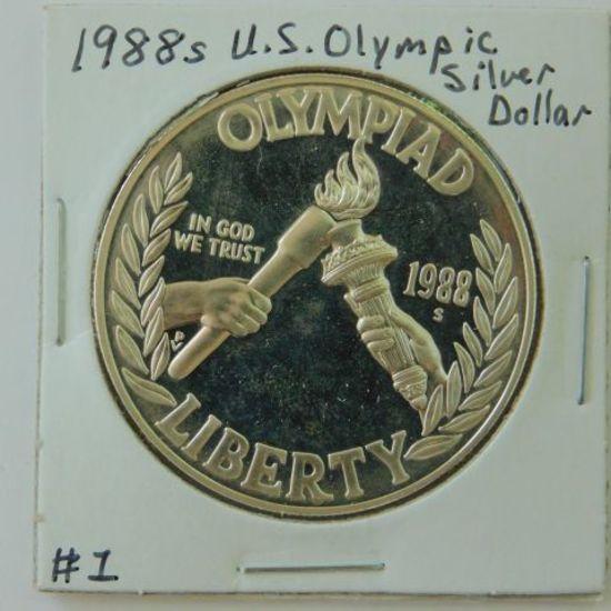 1988S U.S. OLYMPIC SILVER DOLLAR PF