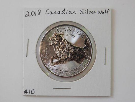 2018 CANADIAN SILVER WOLF BU