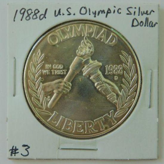 1988D U.S. OLYMPIC SILVER DOLLAR BU