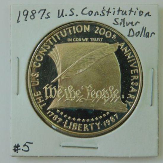 1987S U.S. CONSTITUTION SILVER DOLLAR PF
