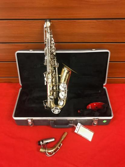 Buescher Aristocrat 200 Alto Saxophone, with case, used working condition