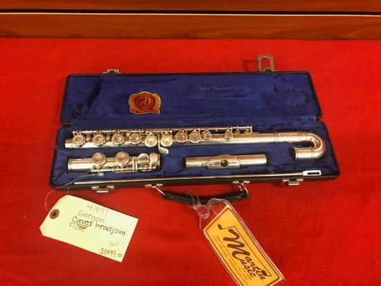 Emerson Curved Head Joint Flute with case