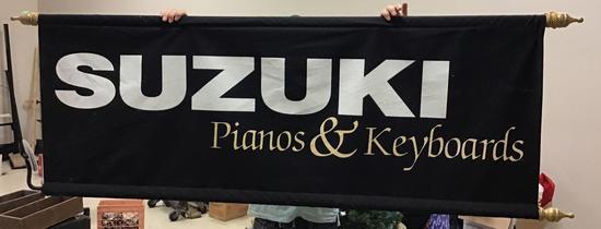 6 foot Suzuki Keyboards banner