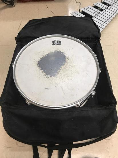 CB Drums Snare Drum with stand and case, USED