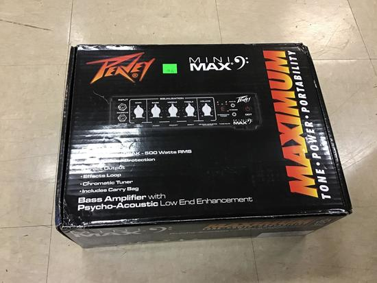 Peavey Mini Max Bass Amplifier with Psycho Acoustic Low End Enhancement, unused in original box