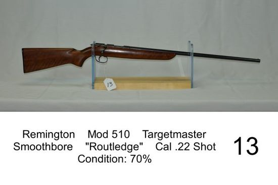"Remington    Mod 510    Targetmaster    Smoothbore    ""Routledge""    Cal .2"