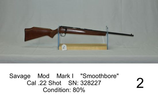 "Savage    Mod    Mark I    ""Smoothbore""    Cal .22 Shot    SN: 328227    Co"