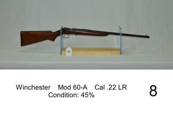 Winchester    Mod 60-A    Cal .22 LR    Condition: 45%