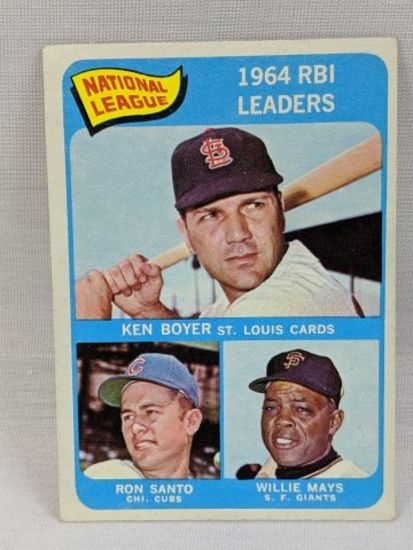 1965 Topps RBI Leaders W/ Mays #6