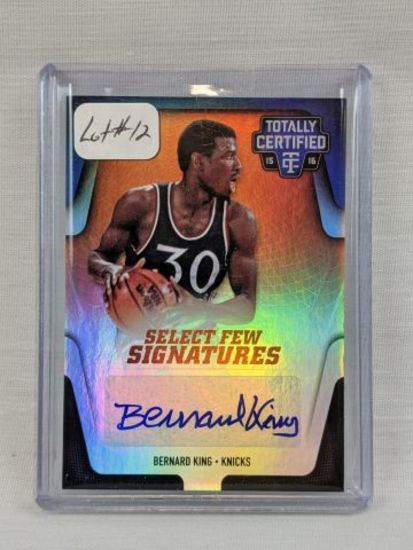 2015/16 Panini Totally Certified Bernard King Auto/Jersey
