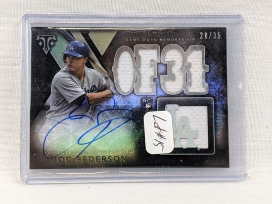 2015 Topps Triple Threads Joc Pederson Rookie Auto/Jersey