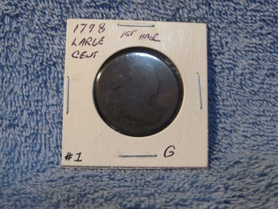 1798 LARGE CENT (1ST. HAIR STYLE) G